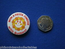 Sunblest Win a Ford Fiesta Finesse  pin badge   1980s
