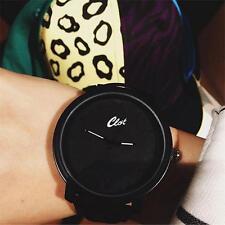 Femmes / Hommes Montre en cuir PU bande analogique-bracelet à quartz noir DC