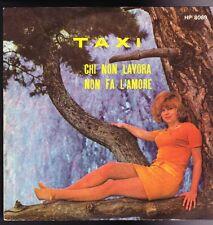 """7"""" I COMBOS TAXI/chi non lavora non fa l'amore (San Remo 1970 Combo)"""