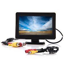 2 en 1 10.9cm TFT LCD Coche Visión Trasera Pantalla Retrovisor Marcha Atrás