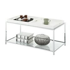 Convenience Concepts Palm Beach Coffee Table, White - 131382W