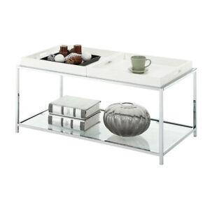 Convenience Concepts Palm Beach Coffee Table, White - 131382W