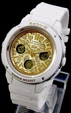 Casio Baby G BGA150LP 7A Woman's Watch White Gold Leopard Limited