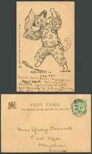 More details for louis wain artist signed chinese cat, ada reeve, san toy china 1904 old postcard