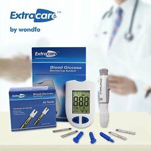 Extracare Digital Blood Glucose Meter Glucometer Diabetic Sugar Monitor Test Kit
