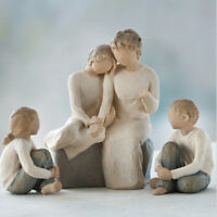 Willow Tree Grandmother with 2 Granddaughters & Grandson Figurines