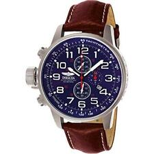 Invicta Men's I-Force Lefty Chronograph 100m Stainless Steel Leather Watch 3328