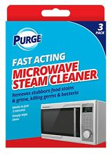 3 Pack MICROWAVE STEAM CLEANER SOLUTION