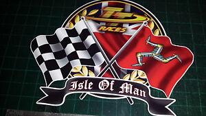 ISLE OF MAN TT Races Decal Sticker MANX Moto GP Racing laptop, helmet, bike, car