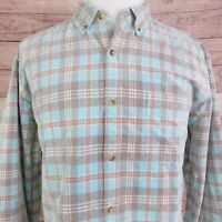 TERRITORY AHEAD LONG SLEEVE PLAID CORDUROY COTTON BUTTON UP SHIRT MENS SIZE XL