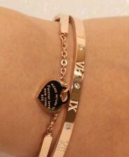 Diamond Bangle Bracelet in 14k Yellow Gold Finish 0.25 Carats Anniversary GIft
