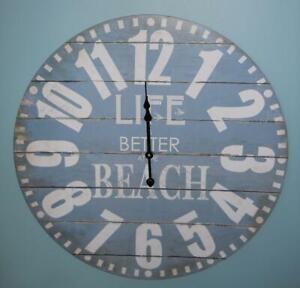 "23"" Wall Clock Life is BETTER AT THE BEACH Nautical Clocks Ocean Beach Gift"