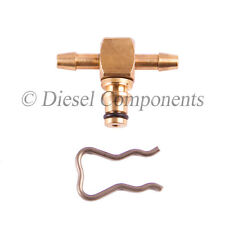 Alfa Romeo Common Brass Rail Leak Off Connector 180 Degree To Fit Bosch Injector