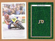 1986 MOTORCYCLE RACING Team Honda WAYNE GARDNER BBC Question of Sport Game Card
