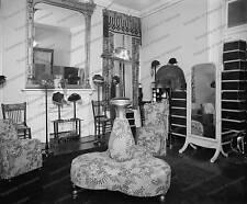 Vintage photo - Hat Shop interior - bench - 8x10 in.