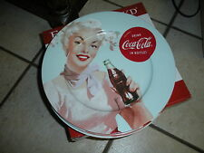 "New Coca Cola Coke Retro Vintage Style Ladies Ceramic 10 1/2"" Dinner Plate (s)"
