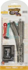"Bachmann N Scale E-Z Remote Turnout - 11.25"" Radius Curved Track Left Hand 44861"