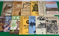 Vintage lot of 15 Leathercraft Leatherworking Catalogs, Tandy HKL Drake's Russos