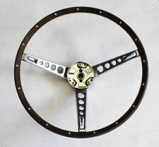 New 1967 Ford Mustang Deluxe Wood Steering Wheel Original Style with Ring Collar