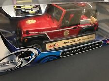 Jeep Wrangler Rubicon Red Brush Fire Unit Maisto 1/18 HTF US Seller