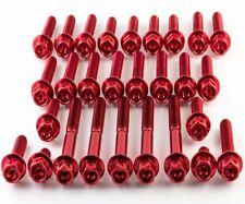 Aprilia RSV1000 Mille 98-03 Aluminium Race Drilled Hex Engine Kit - Red