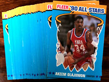 1990-91 Fleer AKEEM OLAJUWON ~ 20 CARD LOT  ~ HOF ALL-STAR CARD #3 of 12