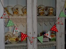 SHABBY CHIC WOODEN BUNTING MADE WITH CATH KIDSTON DESIGN VINTAGE DRESSER GARLAND
