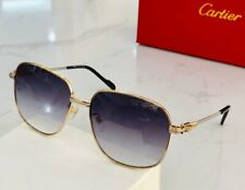 Authentic Cartier Gold Gray lens Sunglasses new with case