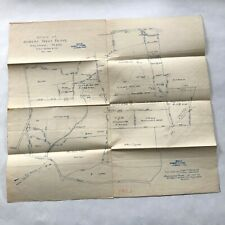 1907 map of Estate of Robert Treat Paine Waltham MA sent to Henry S Hall in 1921