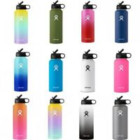 NEW Hydro Flask Wide Mouth Stainless Steel Bottle With Cap Multicolor 18/32/40oz
