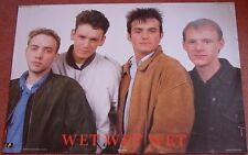 Wet Wet Wet UK Personality Poster Anabas 1988