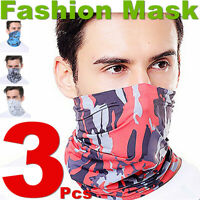 3Pcs Men Face Masks Neck Warmer Gaiter Face Cloth Mask Hats Ski Sports Scarves