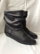 New MIRELLE Purple Leather Slouch Boots - UK Size 4 / EU 37 - New In Box !!!!!!!