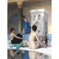 Gerome After Bath Painting XL Canvas Art Print