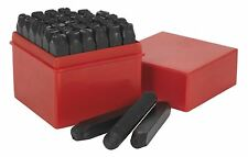 Sealey AK8297 Letter & Number Punch Set 36pc 8mm