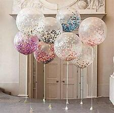 6 Pack Confetti Balloon Birthdays Parties Weddings Decorations Multi Colours 12""