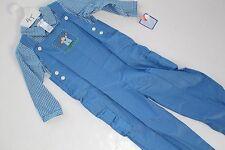 Petit Ami Outfit Boys Size 4T Blue Smocked Monkey Longalls NEW NWT 2PC Shirt