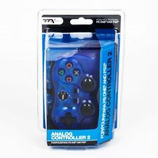 PS2 Shock Controller For Sony PlayStation 2 Dual Vibration Gamepad New Blue