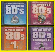 PURE 80's + MORE + #1s + ROCKS Greatest Hits 80s Decade of Excess 4 CD 74 Tracks