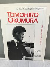 Tomohiro Okumura violin - Advertising Flyer - Naumburg Recital Nyc Feb 1994