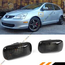 For Honda Civic Es Ep3 Fd Si Jdm Smoke Tinted Lens Fedner Side Marker Lamp Light Fits Rsx