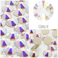 Swarovski x 100 MIXED SIZE AB Crystals Rhinestones GLUE ON Nail Art Costume