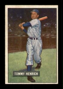 1951 Bowman Set Break # 291 Tommy Henrich EX-MINT *OBGcards*