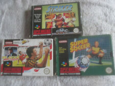 Striker, Super Football & Player Manager / CIB Bundle / Super Nintendo SNES PAL