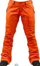Burton Women's Indulgence Snowboard Winter Pant Fever Orange Size M NEW