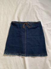 "Wrapper Size 2X Midi Cotton Jeans Skirt Length 21"""