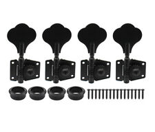 4R Black nickel Vintage Open Jazz Bass Machine Heads Tuning Keys PB for Fender