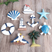 Resin Nautical Lighthouse Anchor Wall Hanging Ornament Beach Boat Ship Steering