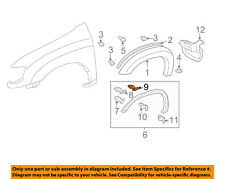 TOYOTA OEM 00-06 Tundra Fender-Wheel Fender Flare Molding Retainer 753920C010