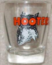 "HOOTERS 2 3/8"" Tall SHOT GLASS with Orange OWL Logo JIGGER + FREE BONUS!"
